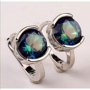 Jewelry - BEAUTIFUL BLUE MYSTIC TOPAZ EARRINGS